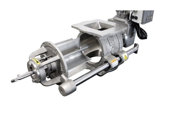 rotary airlock valve rails